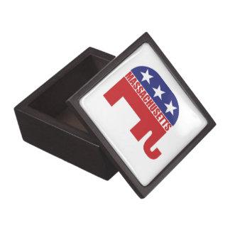 Massachusetts Republican Elephant Premium Jewelry Boxes