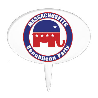 Massachusetts Republican Party Cake Toppers