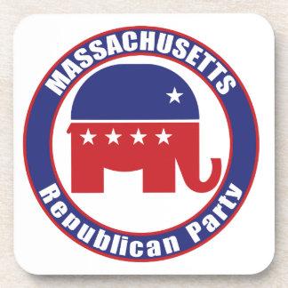 Massachusetts Republican Party Beverage Coaster