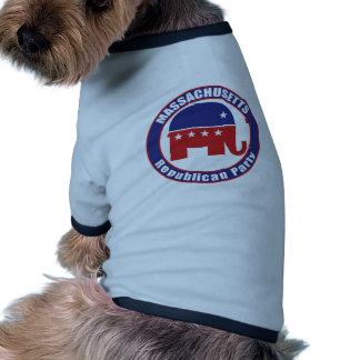 Massachusetts Republican Party Dog Tee Shirt