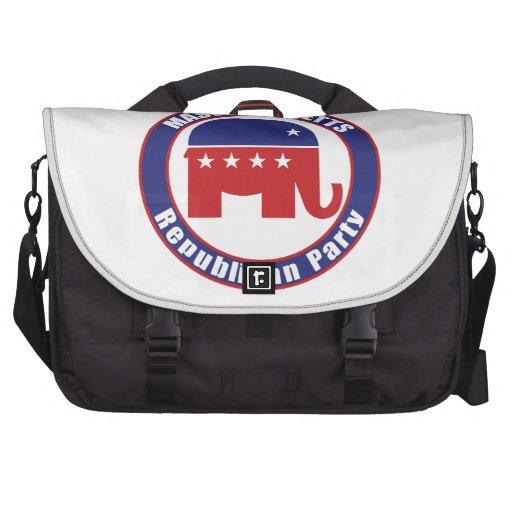 Massachusetts Republican Party Laptop Messenger Bag