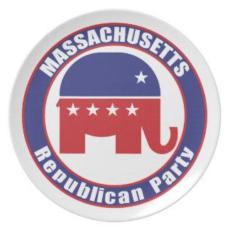Massachusetts Republican Party Plate