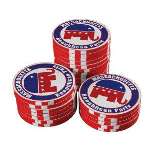 Massachusetts Republican Party Set Of Poker Chips
