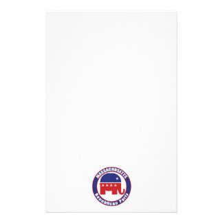 Massachusetts Republican Party Personalized Stationery