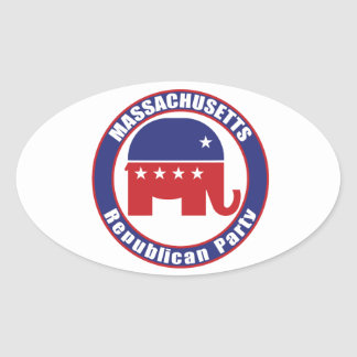 Massachusetts Republican Party Oval Stickers