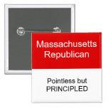 Massachusetts Republican Pinback Buttons