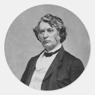 Massachusetts Republican Senator Charles Sumner Classic Round Sticker