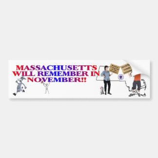 Massachusetts - Return Congress To The People!! Bumper Sticker