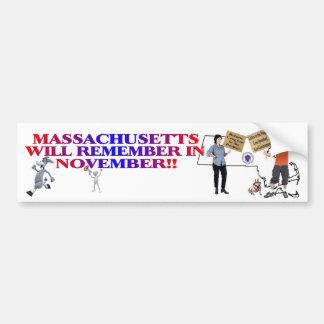 Massachusetts - Return Congress To The People!! Car Bumper Sticker