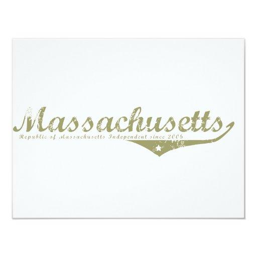 Massachusetts Revolution T-shirts 4.25x5.5 Paper Invitation Card
