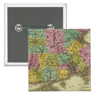 Massachusetts Rhode Island And Connecticut 2 2 Inch Square Button