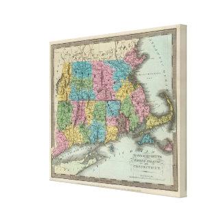 Massachusetts Rhode Island And Connecticut 2 Canvas Print