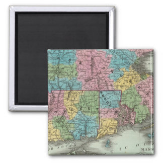 Massachusetts Rhode Island And Connecticut 2 Inch Square Magnet