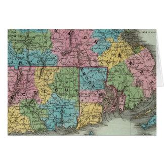 Massachusetts Rhode Island And Connecticut Card