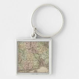 Massachusetts, Rhode Island, and Connecticut Keychain