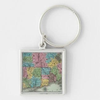 Massachusetts Rhode Island And Connecticut Keychain