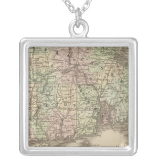 Massachusetts, Rhode Island, and Connecticut Personalized Necklace
