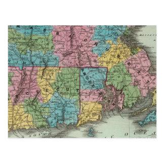 Massachusetts Rhode Island And Connecticut Postcard
