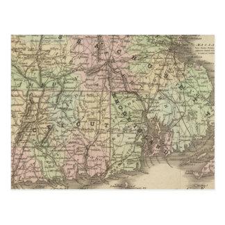 Massachusetts, Rhode Island, and Connecticut Postcard