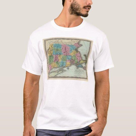 Massachusetts Rhode Island And Connecticut T-Shirt