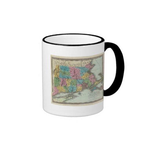 Massachusetts Rhode Island y Connecticut Tazas De Café