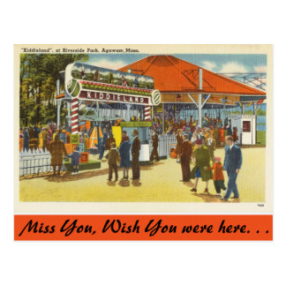 Massachusetts, Riverside Park, Agawam Postcard