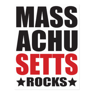 Massachusetts Rocks! State Spirit Gifts and Appare Postcard