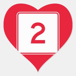 Massachusetts Route 2 Heart Sticker