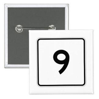 Massachusetts Route 9 Pinback Button