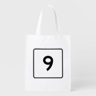 Massachusetts Route 9 Reusable Grocery Bag