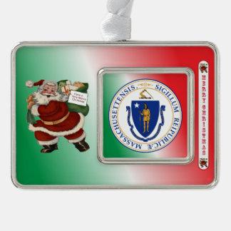 Massachusetts Santa Claus Christmas Ornament
