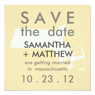 Massachusetts Save the Date Cards
