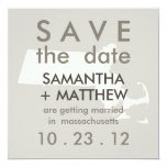 Massachusetts Save the Date Cards Personalized Announcement