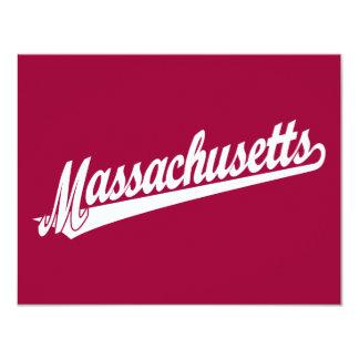 Massachusetts script logo in white card