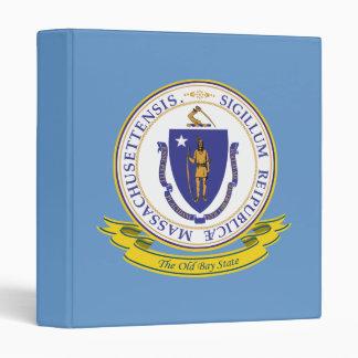 Massachusetts Seal 3 Ring Binder