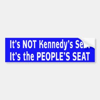Massachusetts Senate Race Car Bumper Sticker