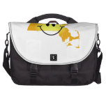 Massachusetts Smiley Face Bags For Laptop