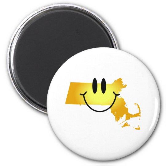 Massachusetts Smiley Face Magnet