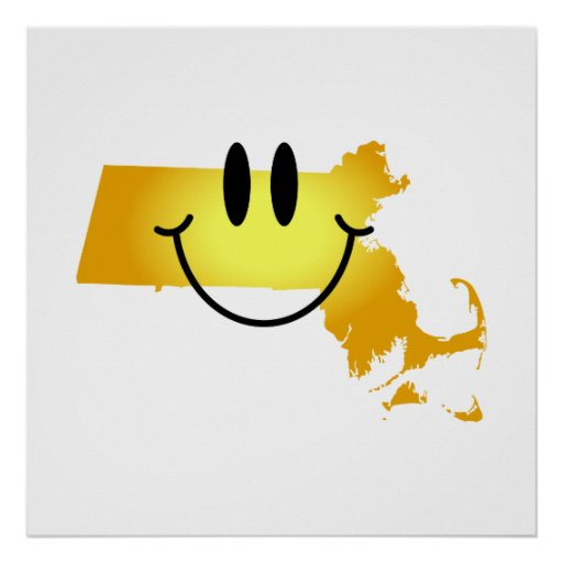 Massachusetts Smiley Face Posters