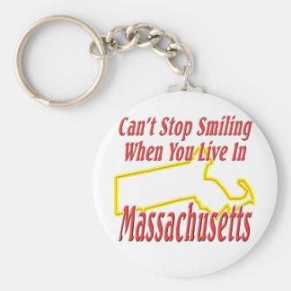 Massachusetts - Smiling Key Chains