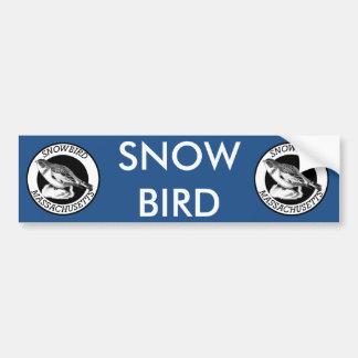 Massachusetts  Snowbird Shield Car Bumper Sticker