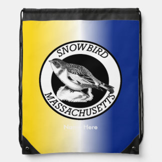 Massachusetts  Snowbird Shield Drawstring Backpack