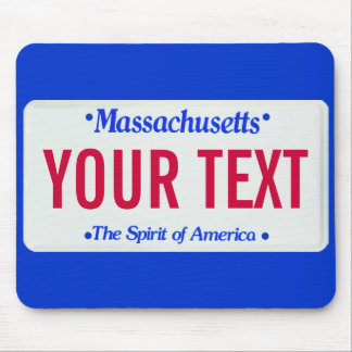 Massachusetts spirit of america license plate mouse pad