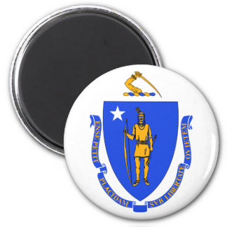 Massachusetts State Flag 2 Inch Round Magnet