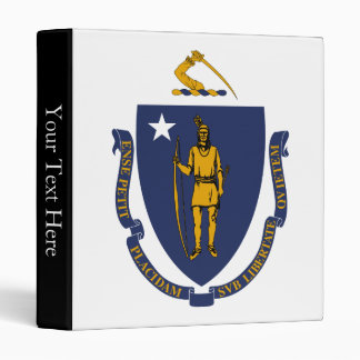 Massachusetts State Flag 3 Ring Binder