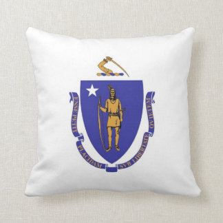 Massachusetts State Flag American MoJo Pillow
