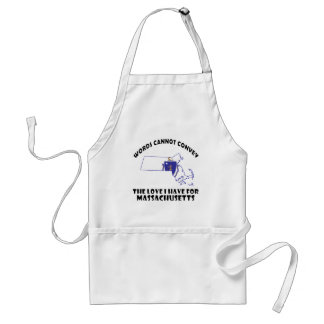 Massachusetts state flag and map designs adult apron