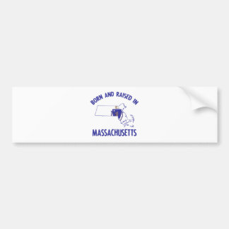 Massachusetts state flag and map designs bumper sticker