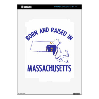 Massachusetts state flag and map designs iPad 3 decals