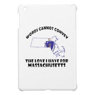 Massachusetts state flag and map designs iPad mini case